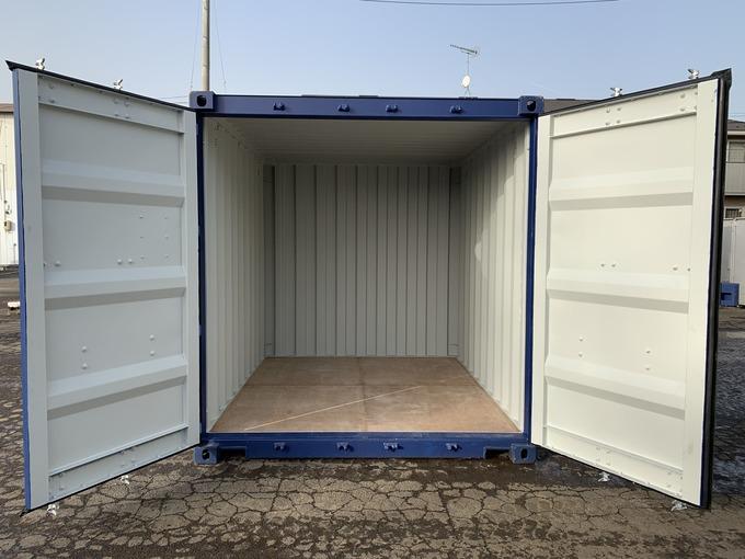 新造10ft ドライスチールコンテナ(妻側ドア)