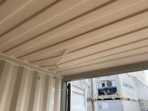 新造20ftドライスチールコンテナ(天井凹みあり)